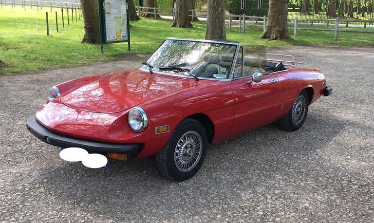 alfa romeo spider 2000 paris 15500 bonnie car occasion. Black Bedroom Furniture Sets. Home Design Ideas